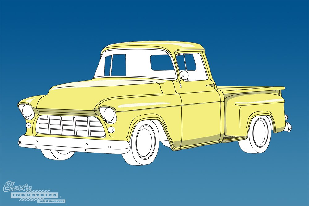 1955 1959 Task Force Chevy truck generation 2