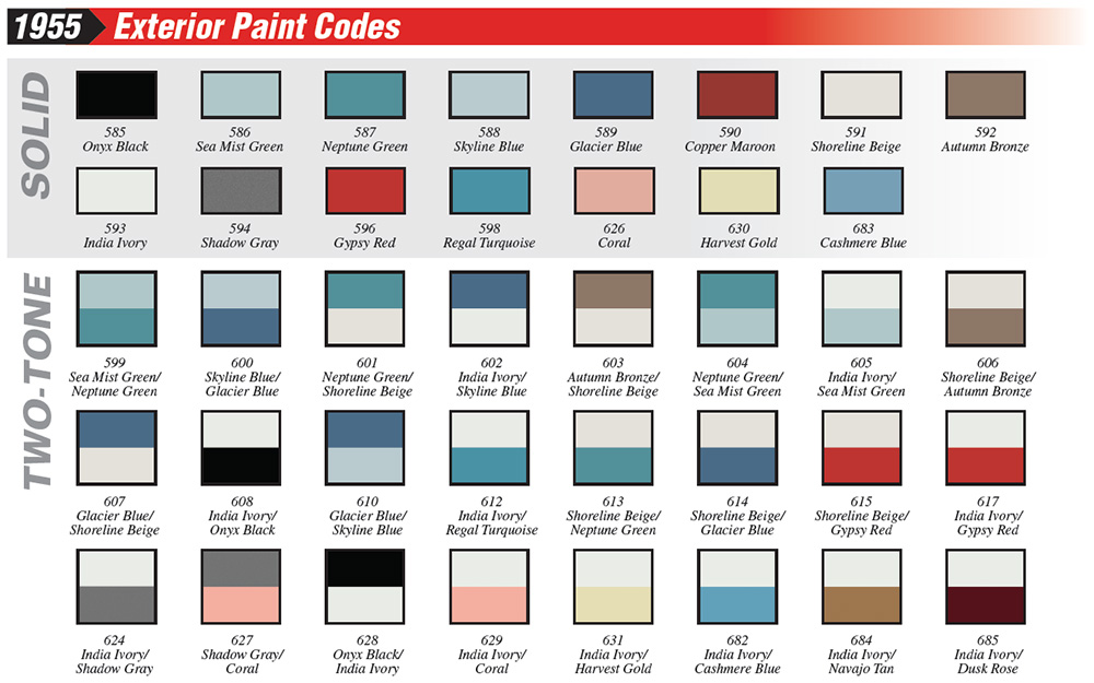 1955_Chevy_paint_codes