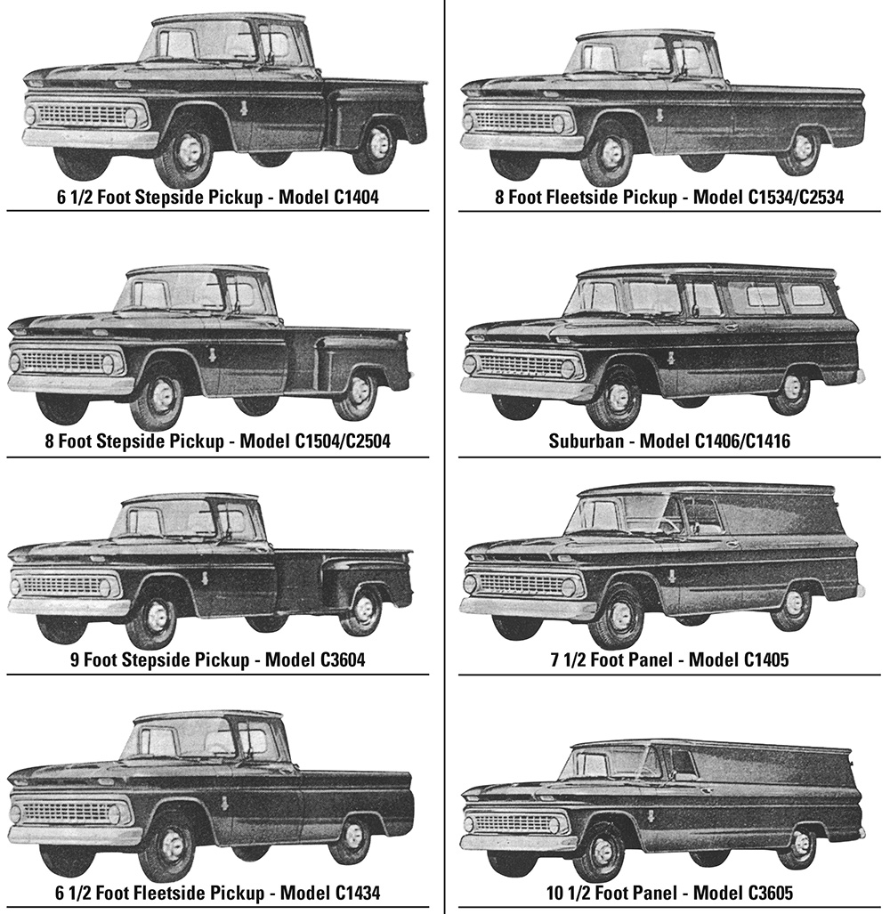 1960 1972 Chevy Truck History Model Year Differences