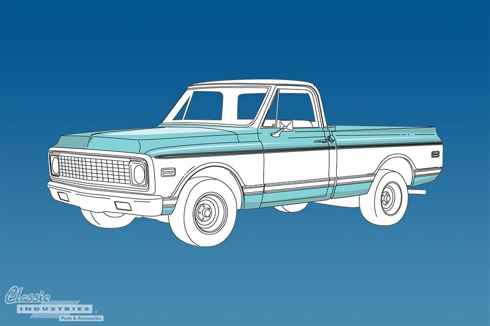 1967 1972 C K Series Chevy truck generation 2