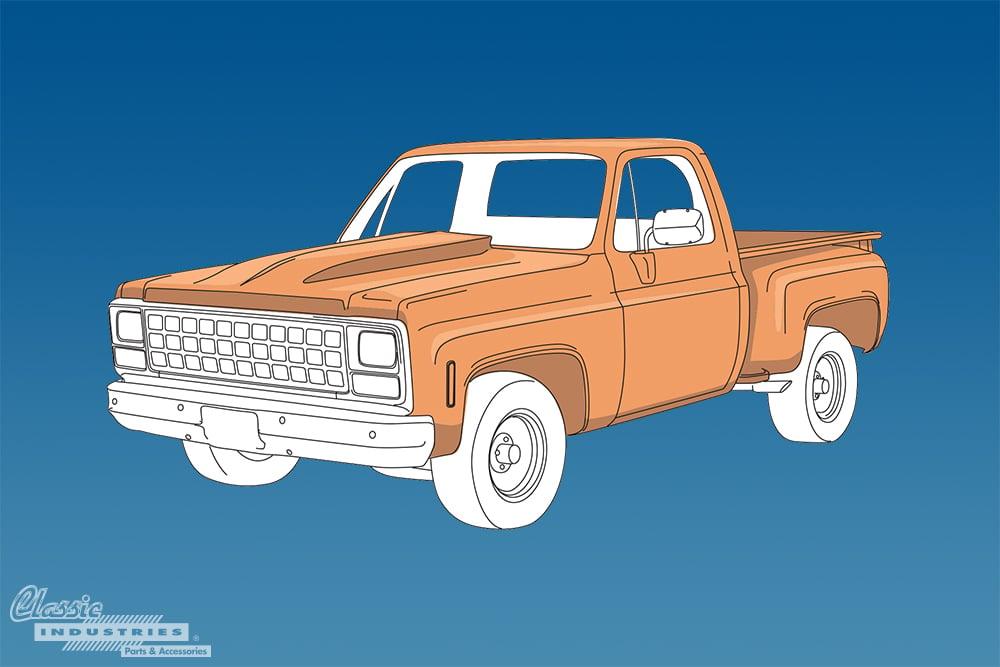 1973 1987 C K Series Chevy truck generation 2