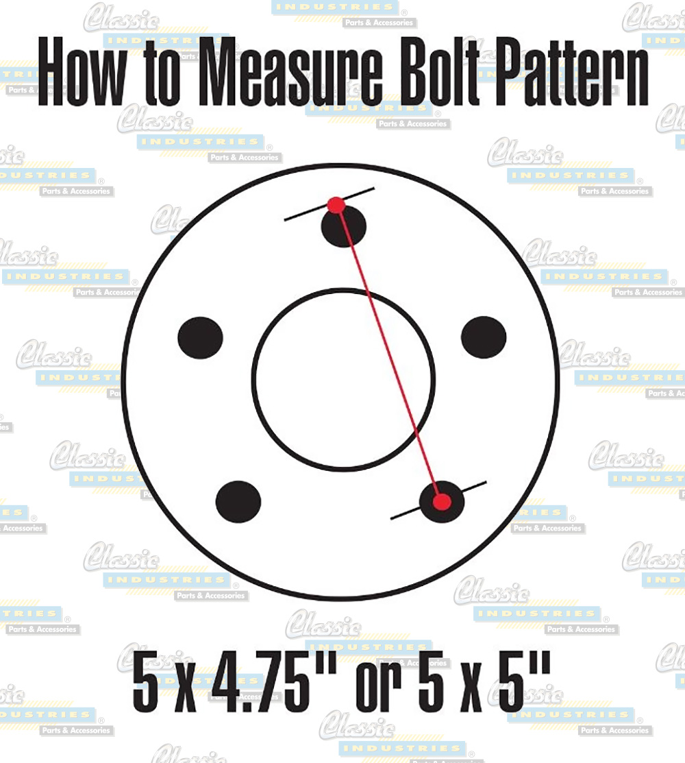 Wheel bolt pattern diagram