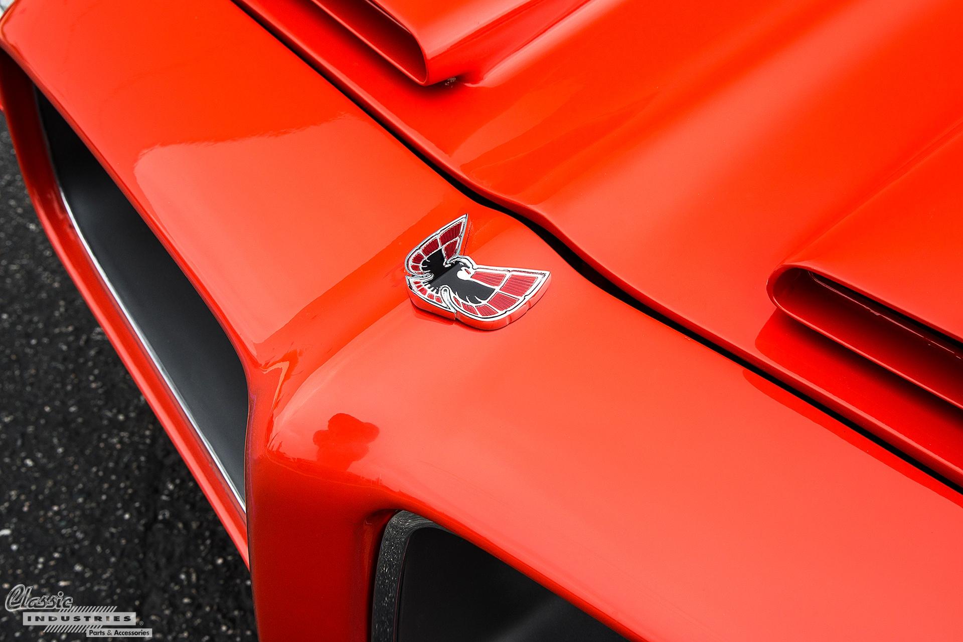 Orange Firebird Hood Emblem
