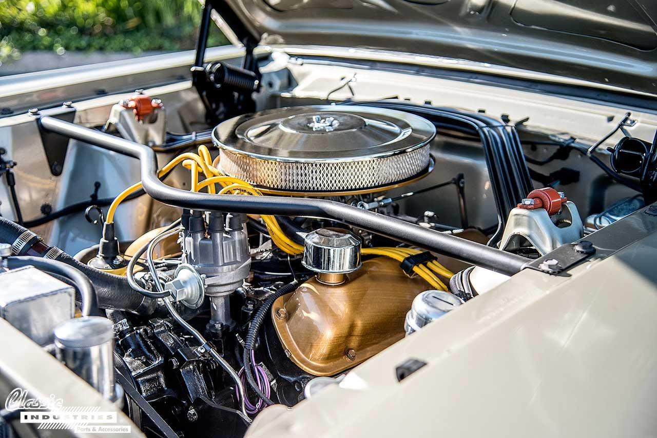 65-MustangHoneygold_Engine