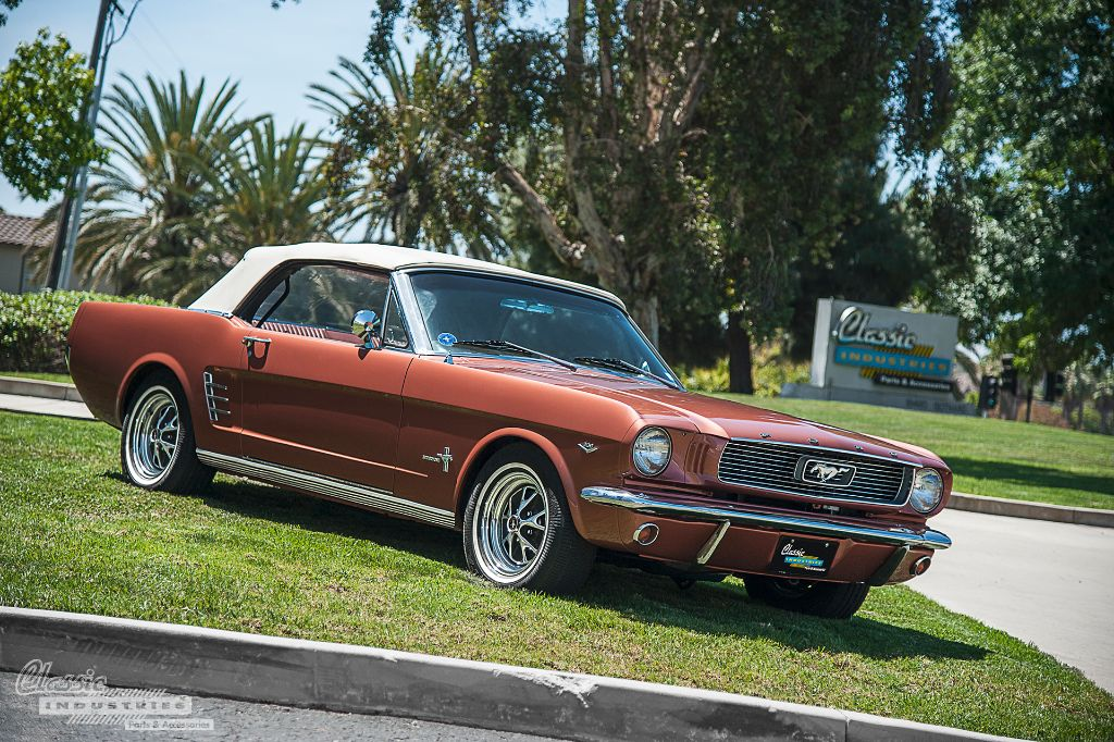 1966 Mustang convertible side