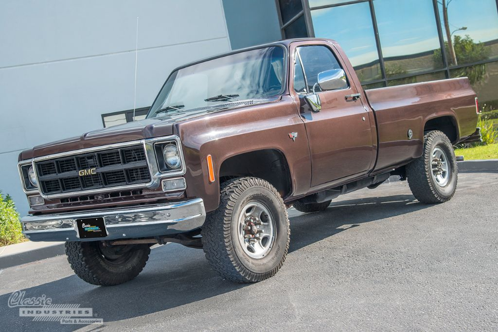 Brown 77 GMC pickup 01
