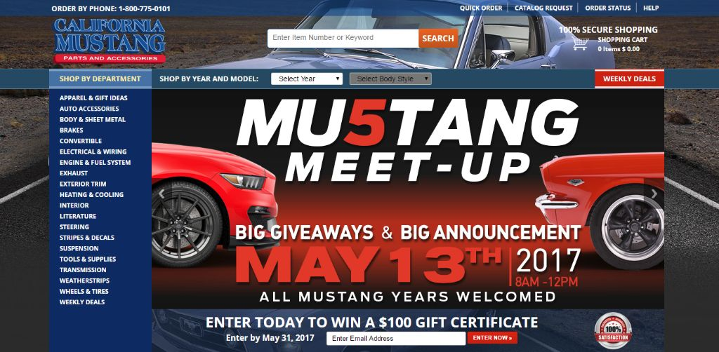California Mustang web site
