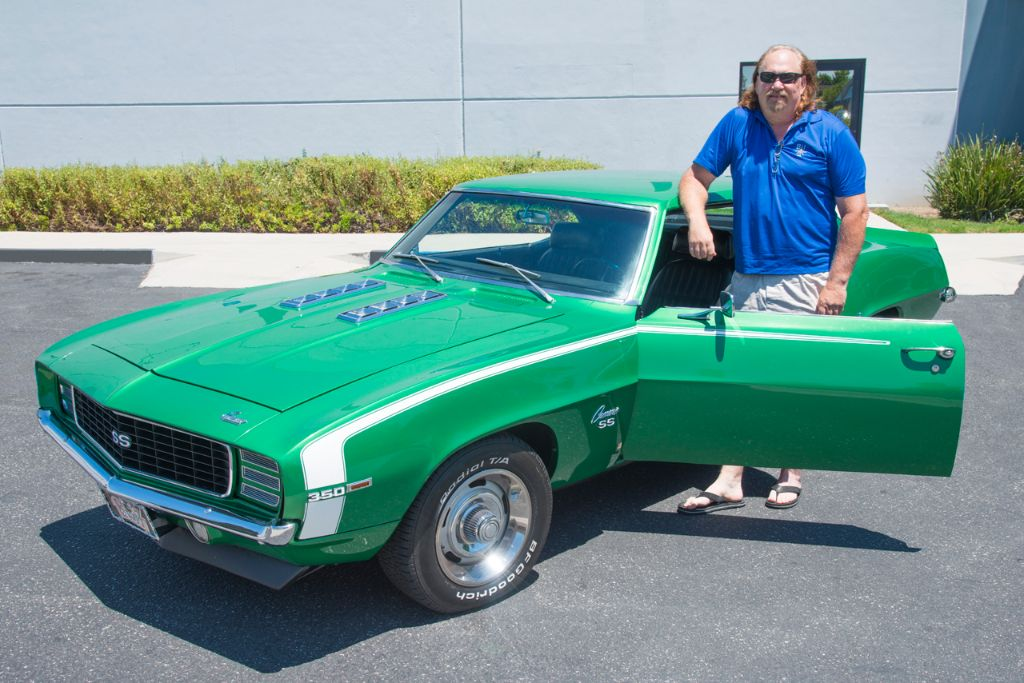 Here's a shot of Terry with his Camaro. Thanks again for coming by and getting to know us, Terry!