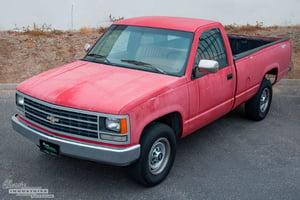 Red '90 C1500 work truck 3
