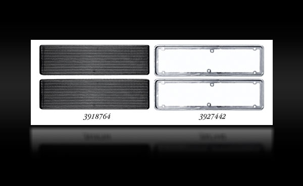1968-72 Chevy II / Nova SS Hood Louvers and Bezels