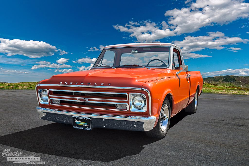 in more ways than one this chevy c10 isnu0027t what it seems glancing at the front end youu0027ll see cues that indicate it might be a or u002768 model the