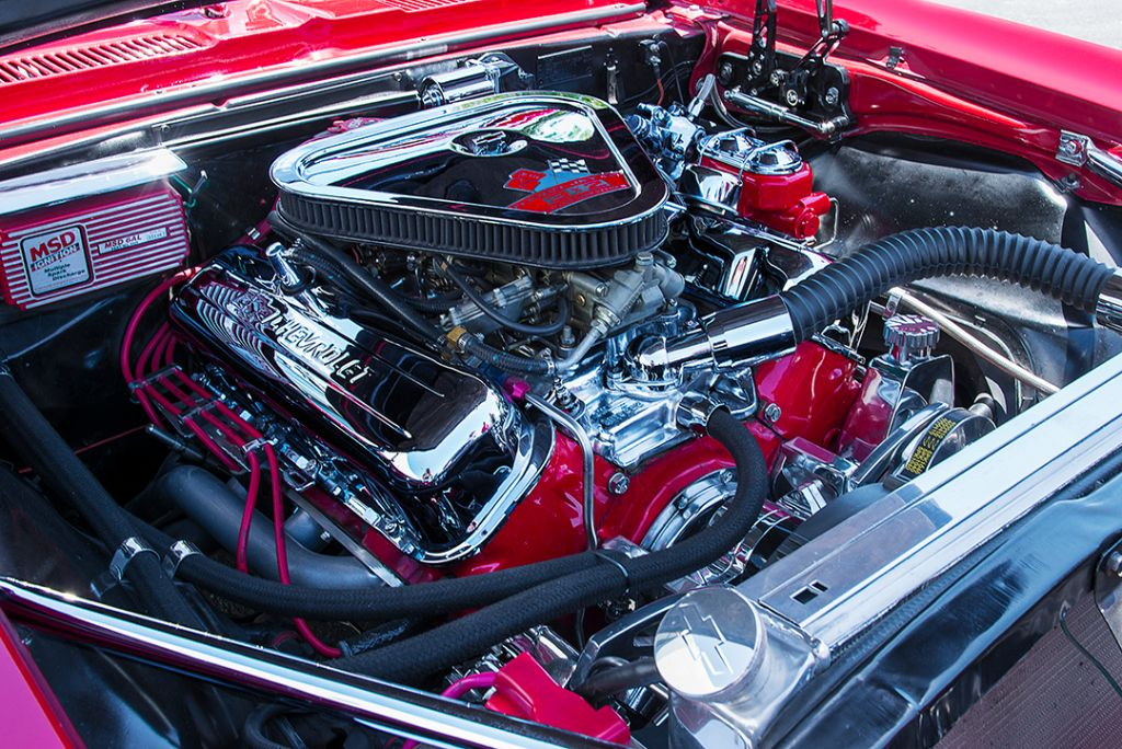 1967 Camaro 427 chrome engine
