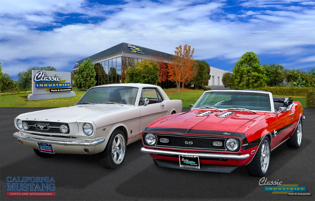 classic industries and california mustang parts join forces