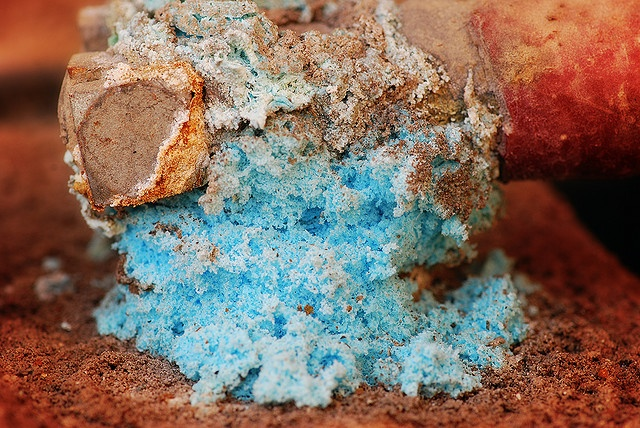 This colorful collection of oxides doesn't even resemble a battery terminal.