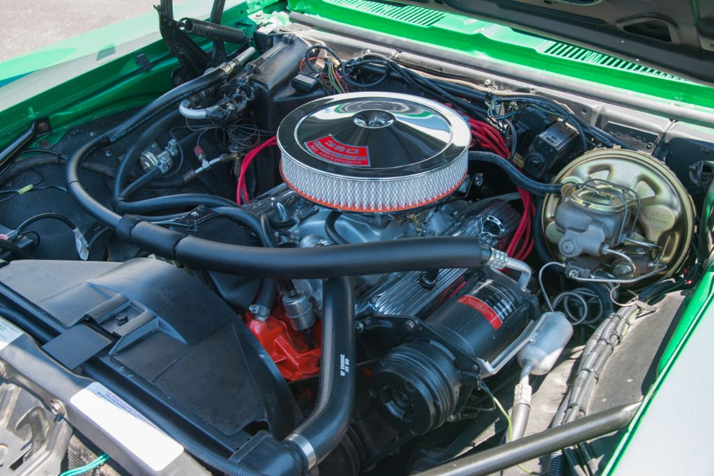 '69 Camaro 350ci V8 engine bay