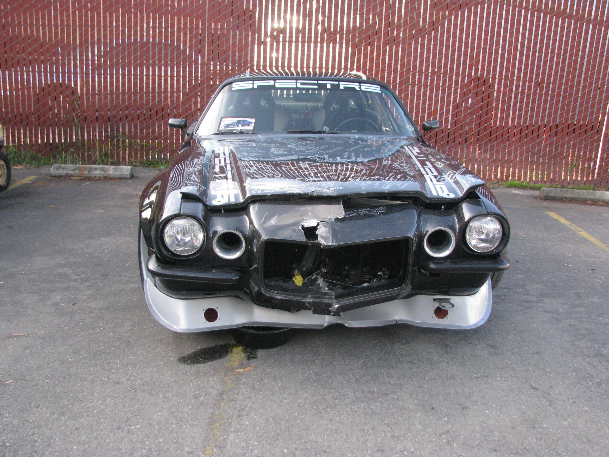 Carbon Camaro Crash