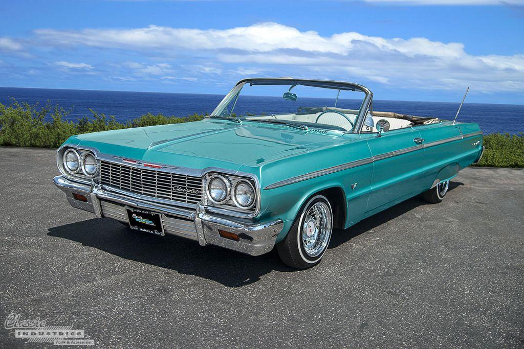 impala 1964 drop convertible ss aquamarine classicindustries