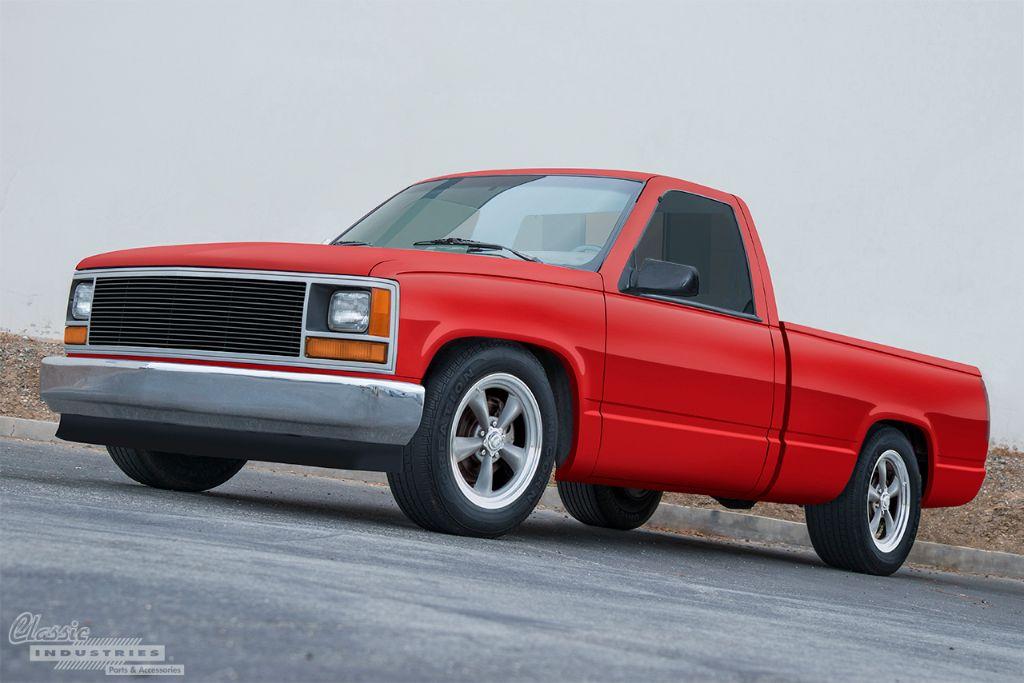 Red '90 C1500 work truck 2v2