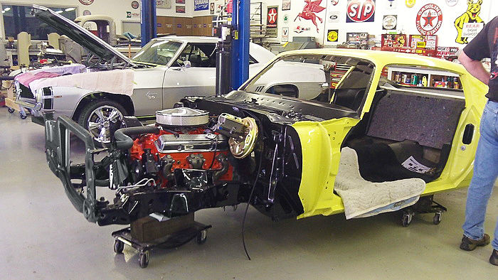 Donald's '73 Z28 undergoing a full-scale restoration at Mike Johnson Restorations using Classic Industries reproduction parts. Access to the right parts correct in detail are what has enabled Donald to relive an extraordinary moment in his youth.